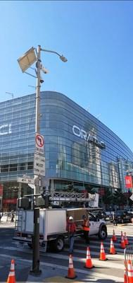 The Oracle OpenWorld Conference begins the week of October 22nd. The V5 Systems units have been strategically mounted for greater vantage.