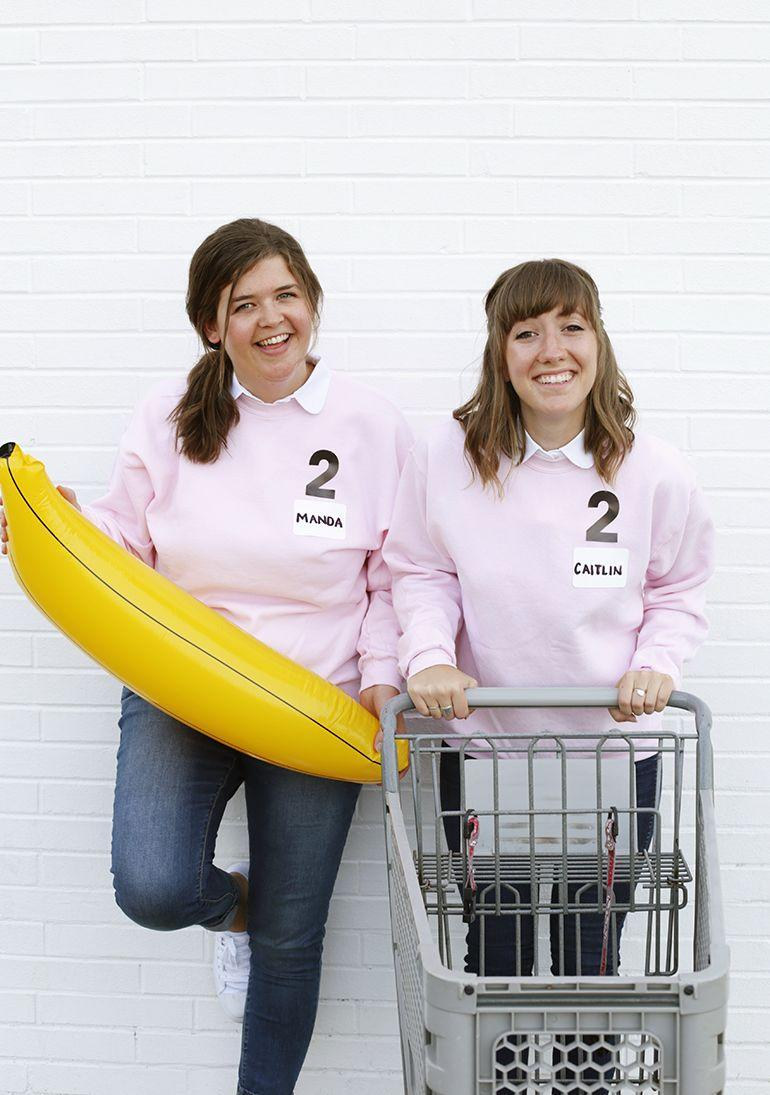 """<p>If nobody can get through the grocery store faster than you can, here's a fun idea: Go as a contestant on the hit game show. It doesn't require much—just a sweatshirt and some iron-on letters. <br><br><a class=""""link rapid-noclick-resp"""" href=""""https://themerrythought.com/diy/diy-supermarket-sweep-costume/"""" rel=""""nofollow noopener"""" target=""""_blank"""" data-ylk=""""slk:GET THE TUTORIAL"""">GET THE TUTORIAL</a></p><p><a class=""""link rapid-noclick-resp"""" href=""""https://www.amazon.com/Magfok-Letter-4-Inch-Transfer-Optional/dp/B07B78YMHF?tag=syn-yahoo-20&ascsubtag=%5Bartid%7C10072.g.33547559%5Bsrc%7Cyahoo-us"""" rel=""""nofollow noopener"""" target=""""_blank"""" data-ylk=""""slk:SHOP IRON-ON LETTERS"""">SHOP IRON-ON LETTERS</a></p>"""