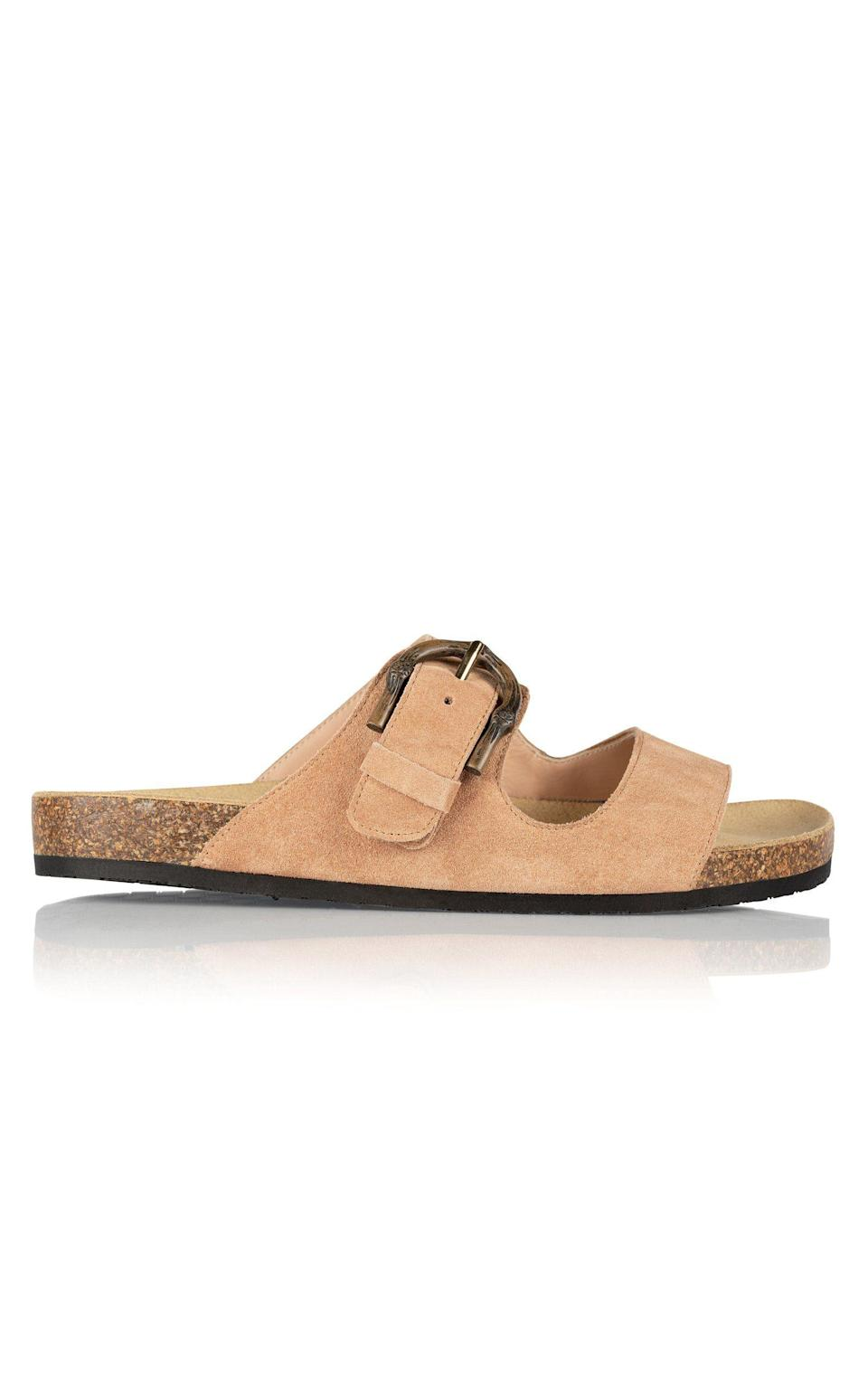"""<p><strong>Brother Vellies</strong></p><p>brothervellies.com</p><p><strong>$465.00</strong></p><p><a href=""""https://brothervellies.com/collections/flats/products/greg-sandal-in-dusty-rose"""" rel=""""nofollow noopener"""" target=""""_blank"""" data-ylk=""""slk:Shop Now"""" class=""""link rapid-noclick-resp"""">Shop Now</a></p><p>When it comes to post-COVID fashion, most are looking for pieces that are sleek and comfortable—characteristics that this Birkenstock-style sandal by Brother Vellies fully captures. </p>"""