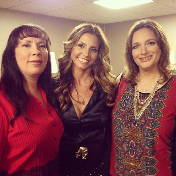 In the green room with my fellow survivors Lisa McVey and Teri Nicolai. About to take the TCA stage!