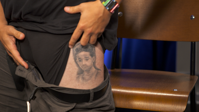 'Impractical Jokers' star Sal Vulcano's very real Jaden Smith tattoo (Photo: Yahoo)