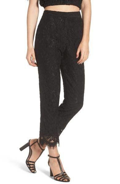 "Get them at <a href=""https://shop.nordstrom.com/s/wayf-rennes-high-waist-crop-lace-pants/4832035?origin=keywordsearch-personalizedsort&fashioncolor=BLACK"" target=""_blank"">Nordstrom</a>, $89."