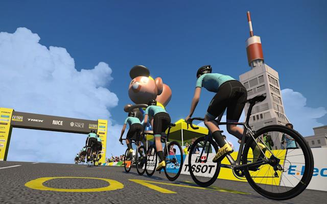 A screengrab of Mont Ventoux on Zwift - Zwift