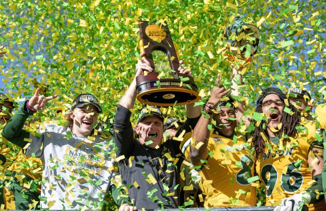 North Dakota State could be heading to the White House after winning the FCS title. (AP Photo/Jeffrey McWhorter)