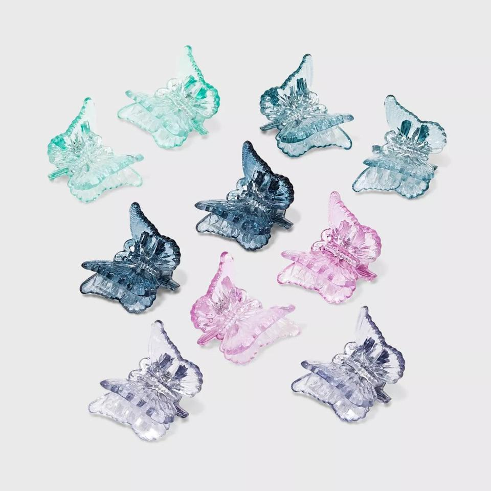 <p><span>Wild Fable Butterfly Claw Hair Clips Set of 10</span> ($5)</p>