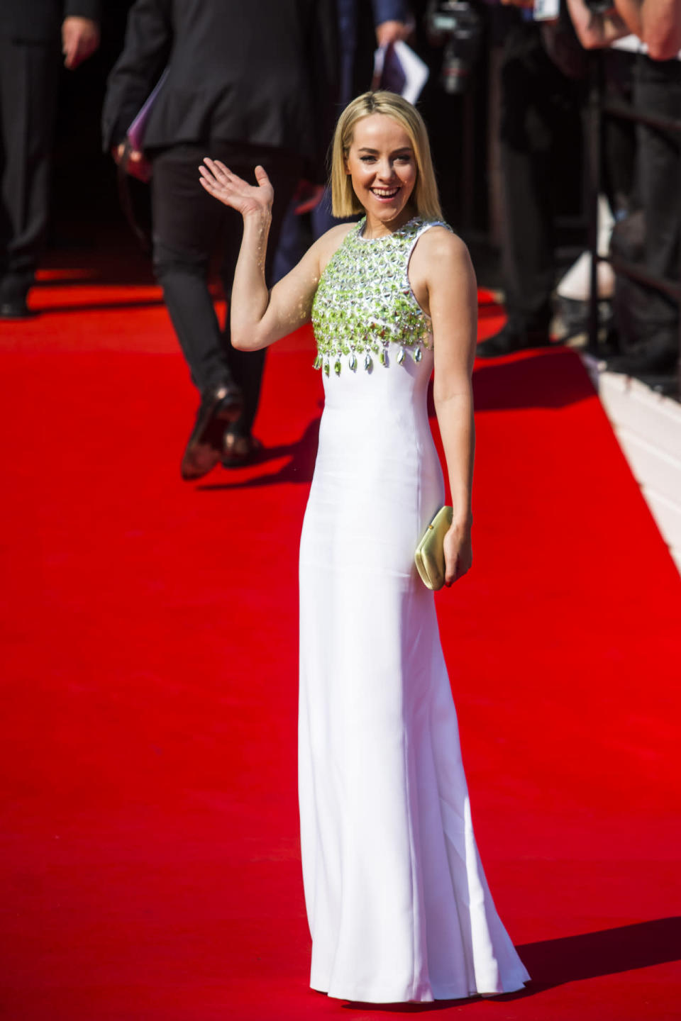 <p>The actress attended the opening ceremony of the 50th Karlovy Vary International Film Festival in the Czech Republic in a gorgeous embellished gown from the Italian fashion house.</p>
