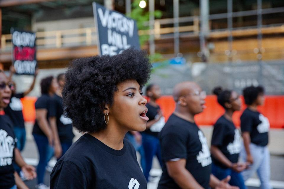 The Detroit Youth Choir performs 'Glory,' the Oscar-winning song from director Ava  DuVernay's film 'Selma,' in a new music video.