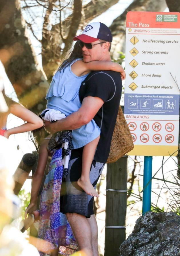 Matt Damon took on the role of a hero dad during his daughter's traumatic jellyfish sting last year. Source: Media-Mode