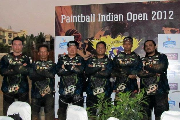 The winners of the International Paintball Indian Open 2012