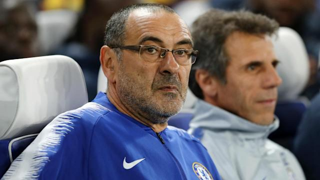 """Chelsea head coach Maurizio Sarri has described the alleged racist shouts from fans towards Raheem Sterling as """"disgusting""""."""