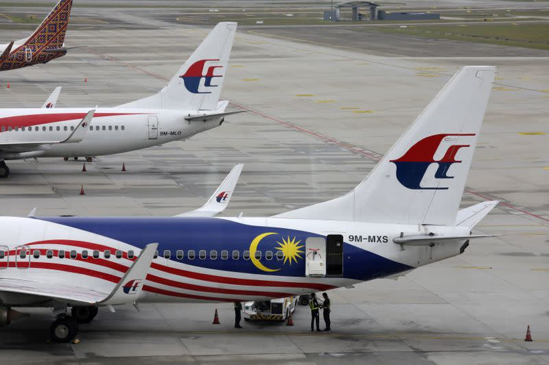 FILE PHOTO: Malaysia Airlines planes are pictured at Kuala Lumpur International Airport in Sepang