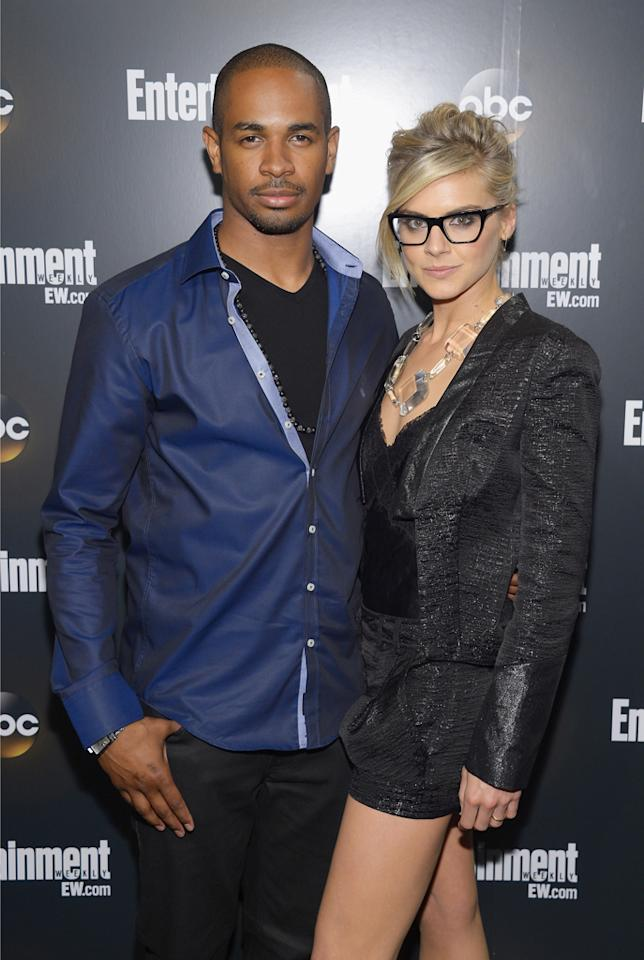 "Damon Wayans Jr. and Eliza Coupe (""Happy Endings"") attend the Entertainment Weekly and ABC Upfront VIP Party at Dream Downtown on May 15, 2012 in New York City."
