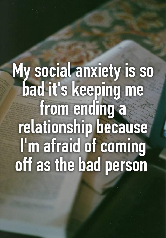 What's it's like to date when you have social anxiety