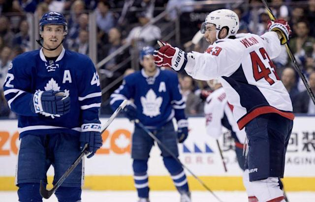 Washington Capitals forward Tom Wilson played an integral role in Wednesday's Game 4 win over the Toronto Maple Leafs. THE CANADIAN PRESS/Frank Gunn