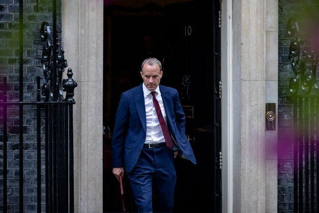 LONDON, ENGLAND - SEPTEMBER 14: Foreign Secretary Dominic  Raab leaves 10 Downing Street on September 14, 2021 in London, England. (Photo by Rob Pinney/Getty Images) (Photo: Rob Pinney via Getty Images)