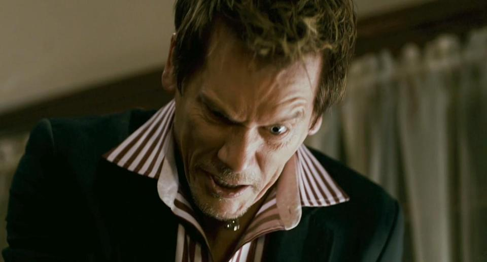 <p>Bacon's back in villain mode in this madcap satirical superhero movie from future 'Guardians of the Galaxy' writer-director James Gunn. Rainn Wilson takes the lead as an average joe who decides to become a masked crimefighter when his wife, Liv Tyler, leaves him for Bacon's local crime boss. (Picture credit: Koch Media) </p>
