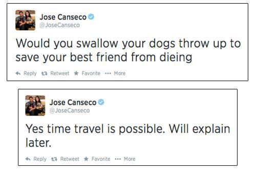 Tweet from Jose Canseco
