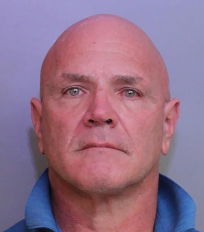 This booking photo released by the Polk County, Fla., Sheriff's Office shows says Polk County Fire Rescue Capt. Anthony Damiano, who was booked into jail Wednesday, Jan. 27, 2021, on a felony charge of falsifying an official record as a public servant and misdemeanor petit theft. Damiano is accused of stealing COVID-19 vaccines meant for first responders, authorities said. (Polk County Sheriff's Office via AP)