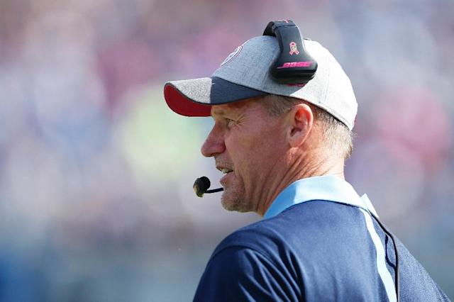 Head coach Ken Whisenhunt of the Tennessee Titans, pictured on October 11, 2015, is fired (AFP Photo/Joe Robbins)