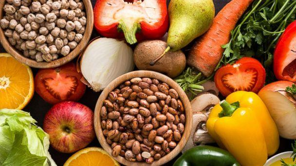 PHOTO: Fruits, vegetables, legumes, and whole grains. (STOCK PHOTO/Shutterstock)