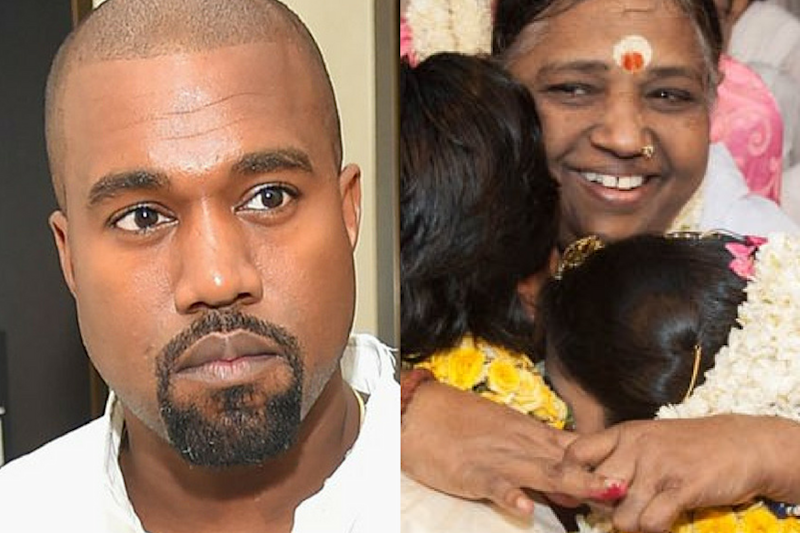 Kanye West is Quite Fascinated By Indian Spiritual Leader Mata Amritanandamayi... And Her Hugs