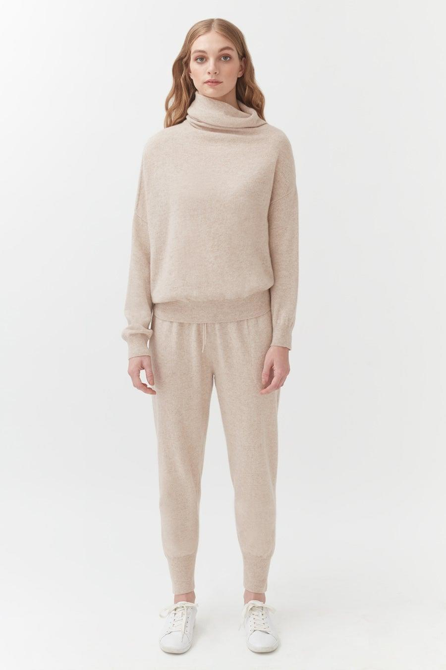 "<h2>Cuyana Cashmere Tapered Pant</h2><br>This premium brand is known for its luxury basics, so we knew they'd deliver in the cashmere-pant category. This heavenly oat-colored pair is made in a vertically integrated Italian factory from Oeko-Tex certified fiber.<br><br><strong>Cuyana</strong> Cashmere Tapered Pant, $, available at <a href=""https://go.skimresources.com/?id=30283X879131&url=https%3A%2F%2Fwww.cuyana.com%2Fcashmere-tapered-pant.html%23beige"" rel=""nofollow noopener"" target=""_blank"" data-ylk=""slk:Cuyana"" class=""link rapid-noclick-resp"">Cuyana</a>"