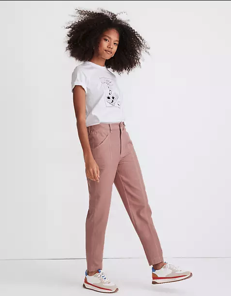 "<p><strong>Madewell</strong></p><p>madewell.com</p><p><a href=""https://go.redirectingat.com?id=74968X1596630&url=https%3A%2F%2Fwww.madewell.com%2Fmoleskin-high-rise-seamed-tapered-pants-MC156.html&sref=https%3A%2F%2Fwww.marieclaire.com%2Ffashion%2Fg35279033%2Fmadewell-secret-stock-sale-january-2021%2F"" rel=""nofollow noopener"" target=""_blank"" data-ylk=""slk:SHOP IT"" class=""link rapid-noclick-resp"">SHOP IT </a></p>"