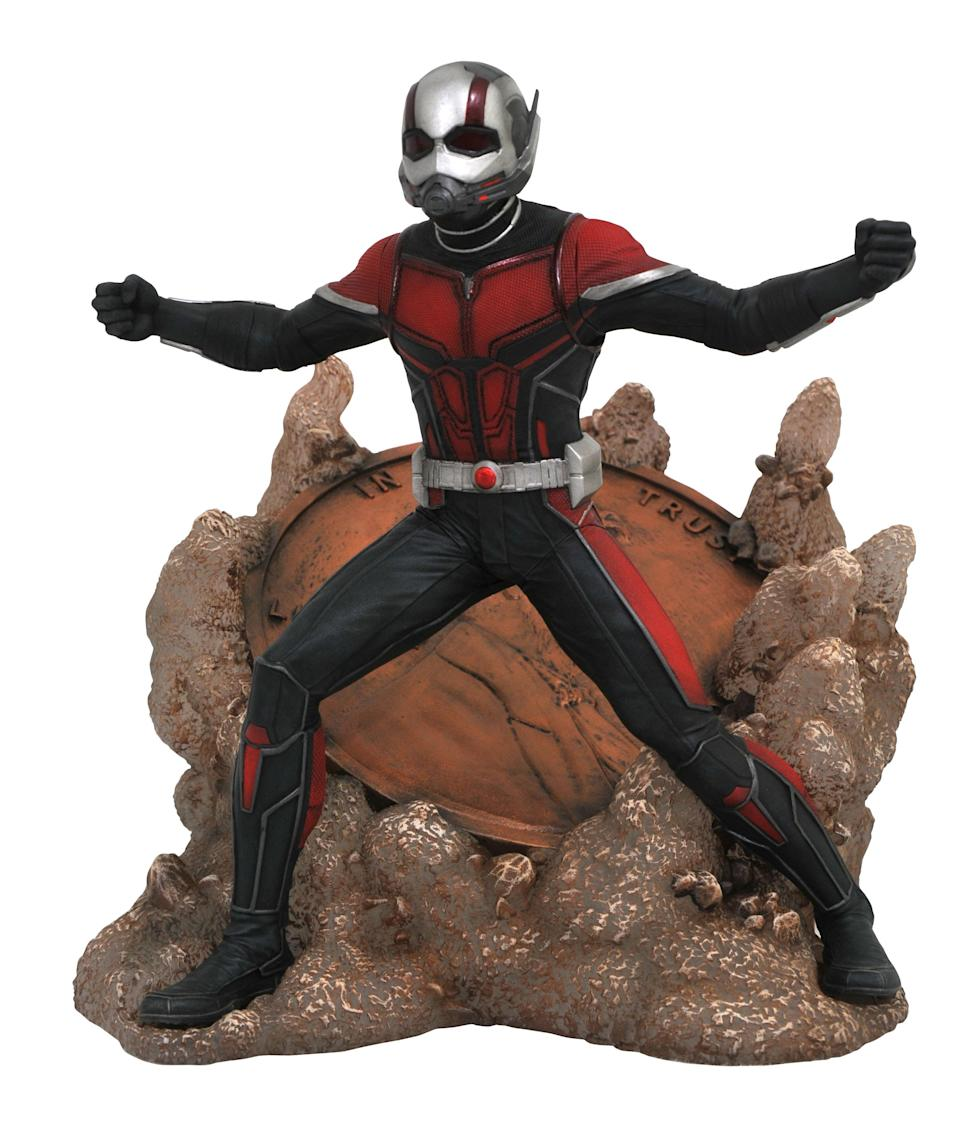 <p>Smaller than a carpenter bee. Stronger than a house spider. Able to lift a penny in a single hand. It's Ant-Man! $45 (Photo: Diamond Select Toys) </p>