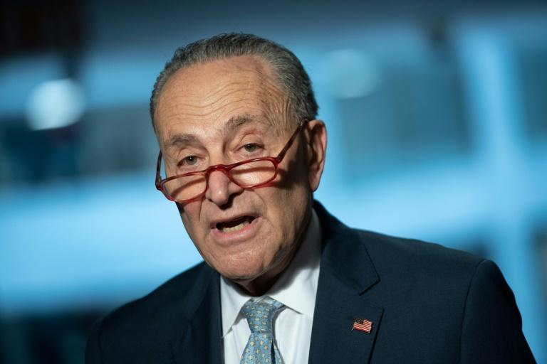 US Senate Minority Leader Chuck Schumer, whose Democrats want to prevent a rescue package from prioritizing big corporations over protecting workers (AFP Photo/SAUL LOEB)