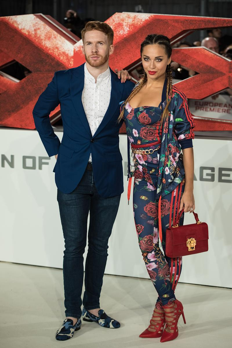 Neil Jones and Katya Jones pose for photographers upon arrival at the premiere of the film 'xXx: Return of Xander Cage', in London, Tuesday, Jan. 10, 2017. (Photo by Vianney Le Caer/Invision/AP)