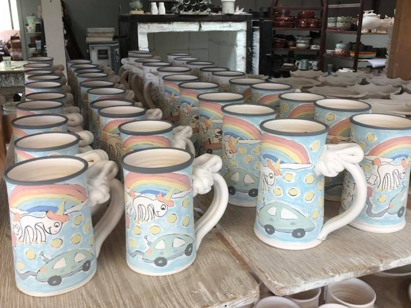 Tom Edwards posted a photo of his unicorn mugs on Facebook: Tom Edwards / Facebook