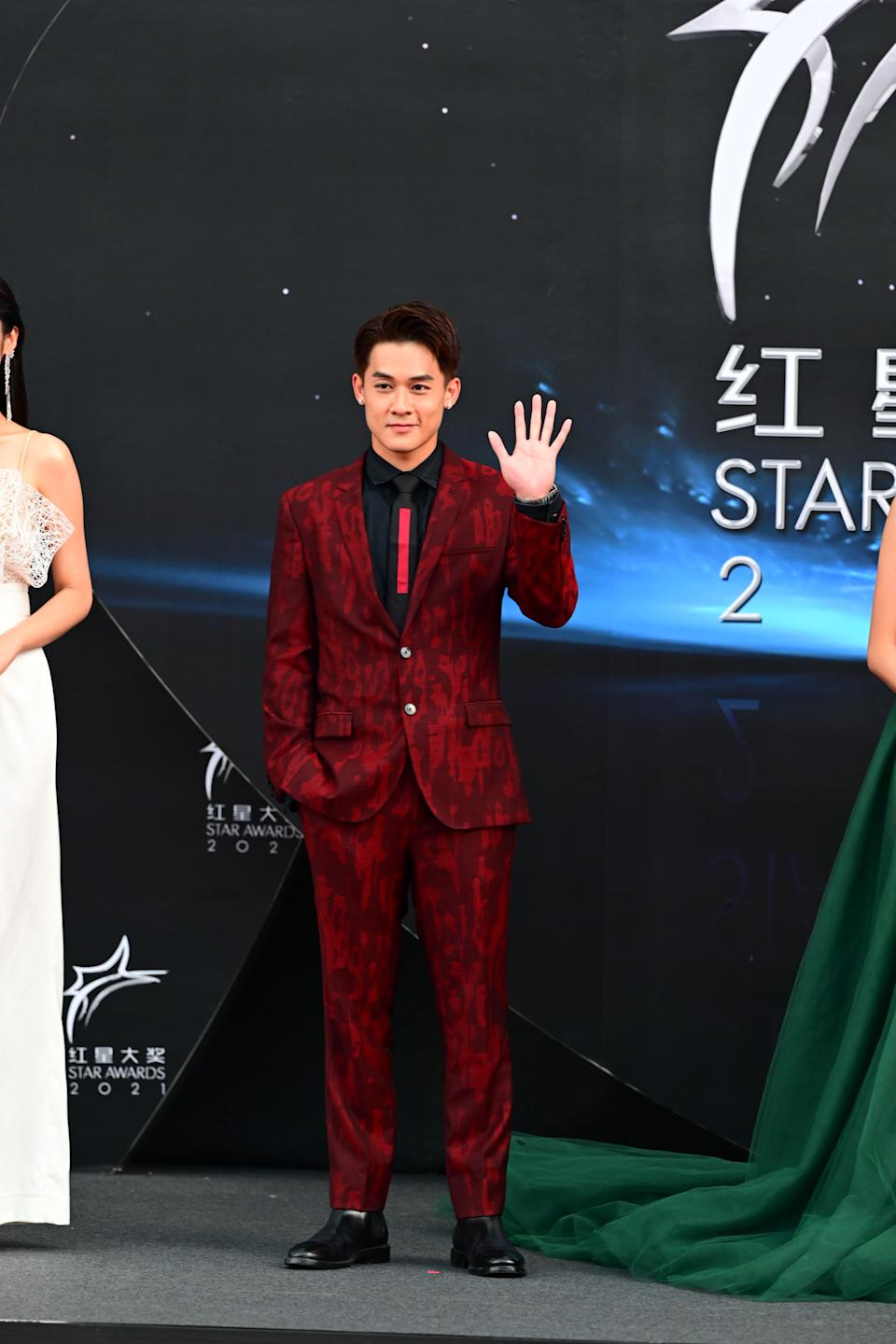 Richie Koh at Star Awards held at Changi Airport on 18 April 2021. (Photo: Mediacorp)