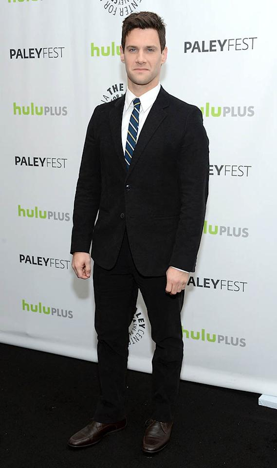 "Justin Bartha attends the 30th annual PaleyFest featuring the cast of ""The New Normal"" at the Saban Theatre on March 6, 2013 in Beverly Hills, California."