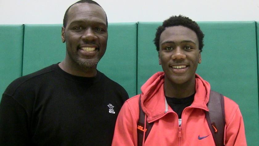 Lafayette Dorsey Sr. (left) was an All-City guard for Dorsey High. Now his son, Lafayette Dorsey Jr., is leading the Dons. He scored 23 points Saturday night in a win over Taft.