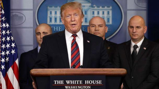 PHOTO: President Donald Trump speaks in the press briefing room at the White House, Jan. 3, 2019, in Washington. (Evan Vucci/AP)