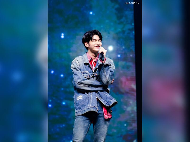 Ong Seong Wu at his first solo fan meeting in Malaysia last weekend.