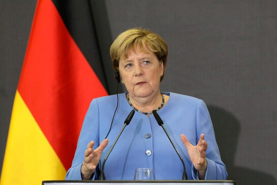 Albania Germany Merkel (Copyright 2021 The Associated Press. All rights reserved)