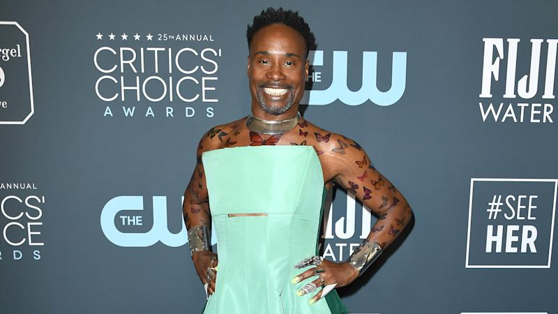 Billy Porter no tapete vermelho do Critics' Choice Awards 2020 (Foto: Steve Granitz/WireImage)