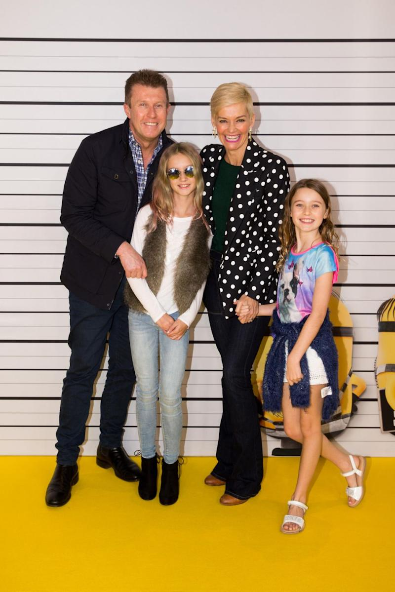 Jess has said she wants to be more 'present' in her daughters Allegra and Giselle's lives. She is pictured here with her husband Peter Overton and their two daughters last year. Source: Getty