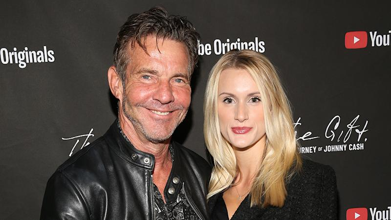 Dennis Quaid, 66, and Laura Savoie, 27, at YouTube event before marrying in June 2020