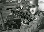 """<p>The star <a href=""""https://www.history.com/this-day-in-history/elvis-presley-is-drafted"""" rel=""""nofollow noopener"""" target=""""_blank"""" data-ylk=""""slk:sailed to Europe on the USS General Randall"""" class=""""link rapid-noclick-resp"""">sailed to Europe on the USS General Randall</a> after joining the 32nd Tank Battalion, 3rd Armor Division in Germany. He served with this division for 18 months before finishing his service requirement from a military base in Bad Nauheim.</p>"""