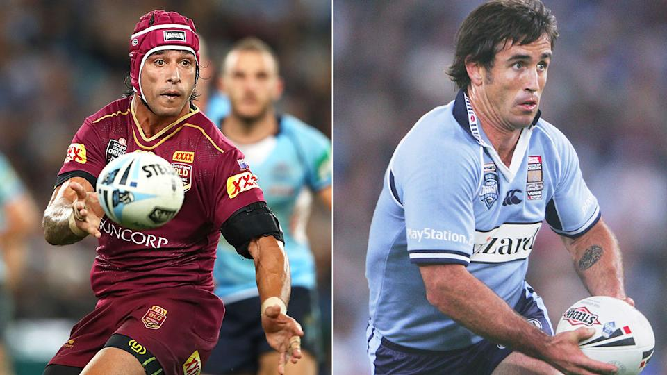 Seen here, two of rugby league's greatest playmakers Johnathan Thurston and Andrew Johns.
