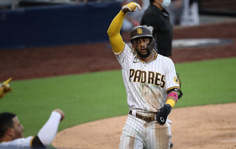 Padres set up NLDS showdown with Dodgers after shutting out the Cardinals. (Photo by Sean M. Haffey/Getty Images)