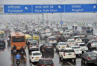 Commuters in New Delhi spend <strong>56% extra travel time</strong> stuck in traffic.