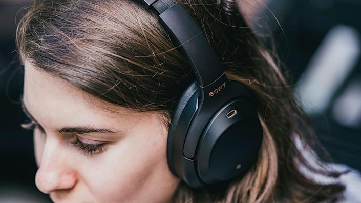 These Sony headphones are comfortable to wear and produce awesome sound quality.
