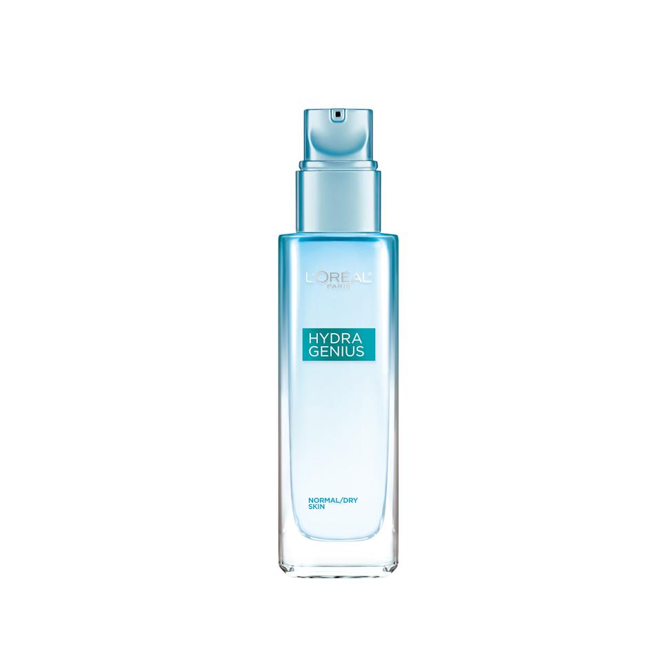 """<p>Based on its chic ombré bottle alone, we've gotta admit that this moisturizer — made with a potent cocktail of hydrators, including hyaluronic acid and aloe water — has earned a top spot on our vanities.</p><p>$13.99 (<a rel=""""nofollow"""" href=""""http://www.target.com/p/l-oreal-174-paris-hydra-genius-glowing-water-cream-normal-dry-skin-3-04oz/-/A-51234043?mbid=synd_yahoobeauty"""">target.com</a>)</p>"""