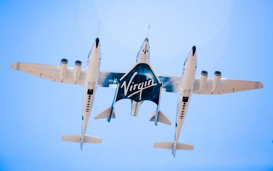 Virgin Spaceship Unity and Virgin Mothership Eve take to the skies on their first captive carry flight on 8 September 2016 - Virgin Galactic