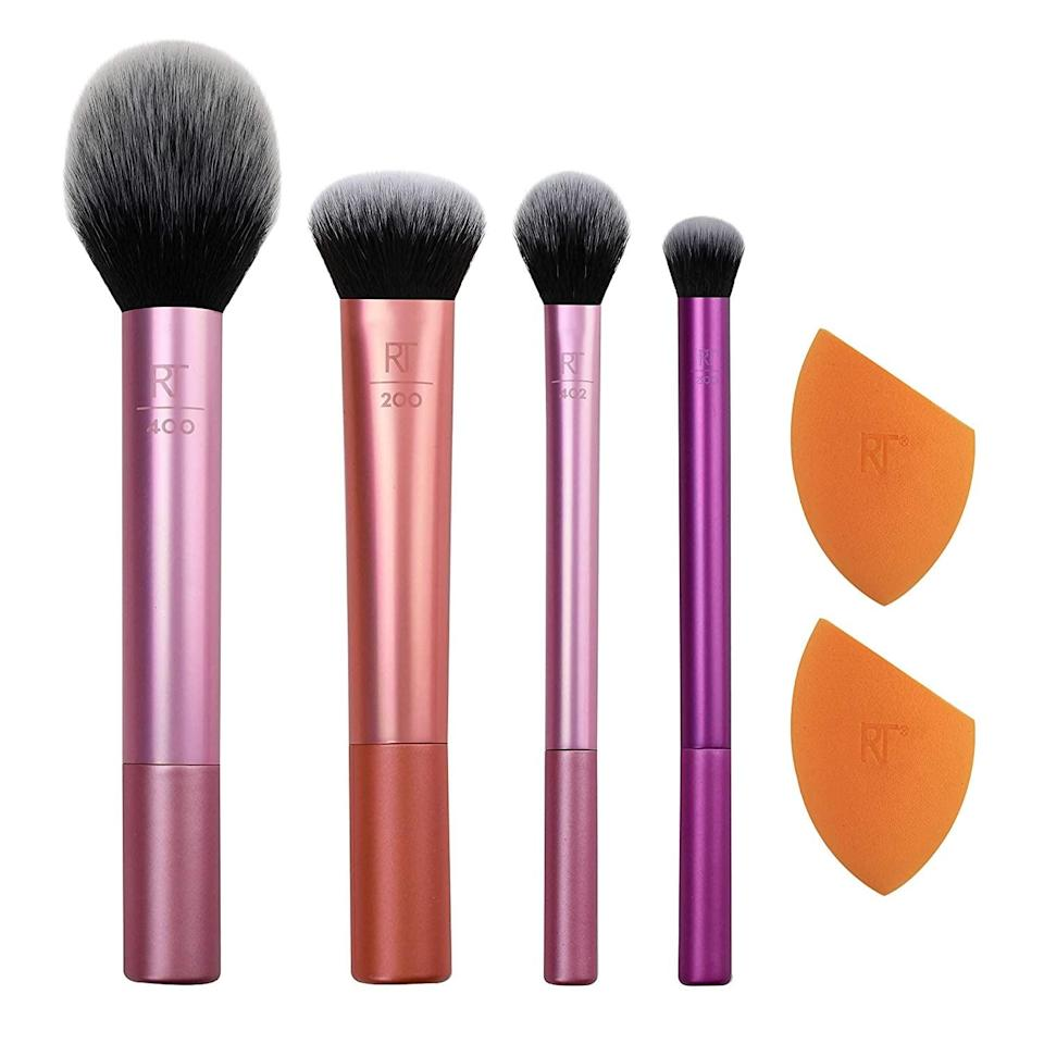<p>Give your makeup tools a refresh with this all-inclusive <span>Real Techniques Makeup Brush Set</span> ($11, originally $20). It comes with a foundation brush, a blush brush, a highlighter brush, an eyeshadow brush and two blending sponges.</p>