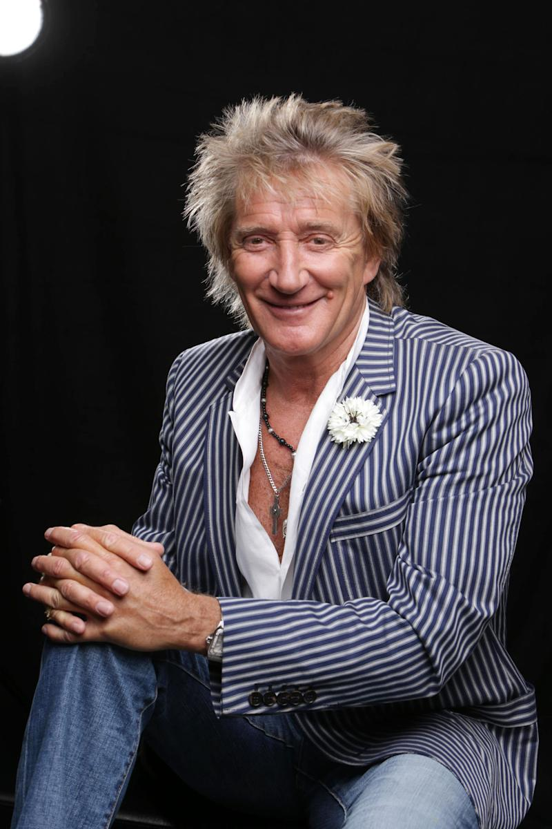 """In this Thursday, May 2, 2013 photo, singer Rod Stewart poses for a portrait in Los Angeles. His new album, """"Time,"""" is out on Tuesday, May 7. (Photo by Eric Charbonneau/Invision/AP)"""