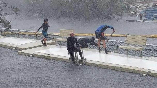 PHOTO: Phillip Admire, director of zoology at Island Dolphin Care in Key Largo, Florida, braved Hurricane Irma to care for the 8 dolphins that are housed at his non-profit facility. (Phillip Admire/Island Dolphin Care )